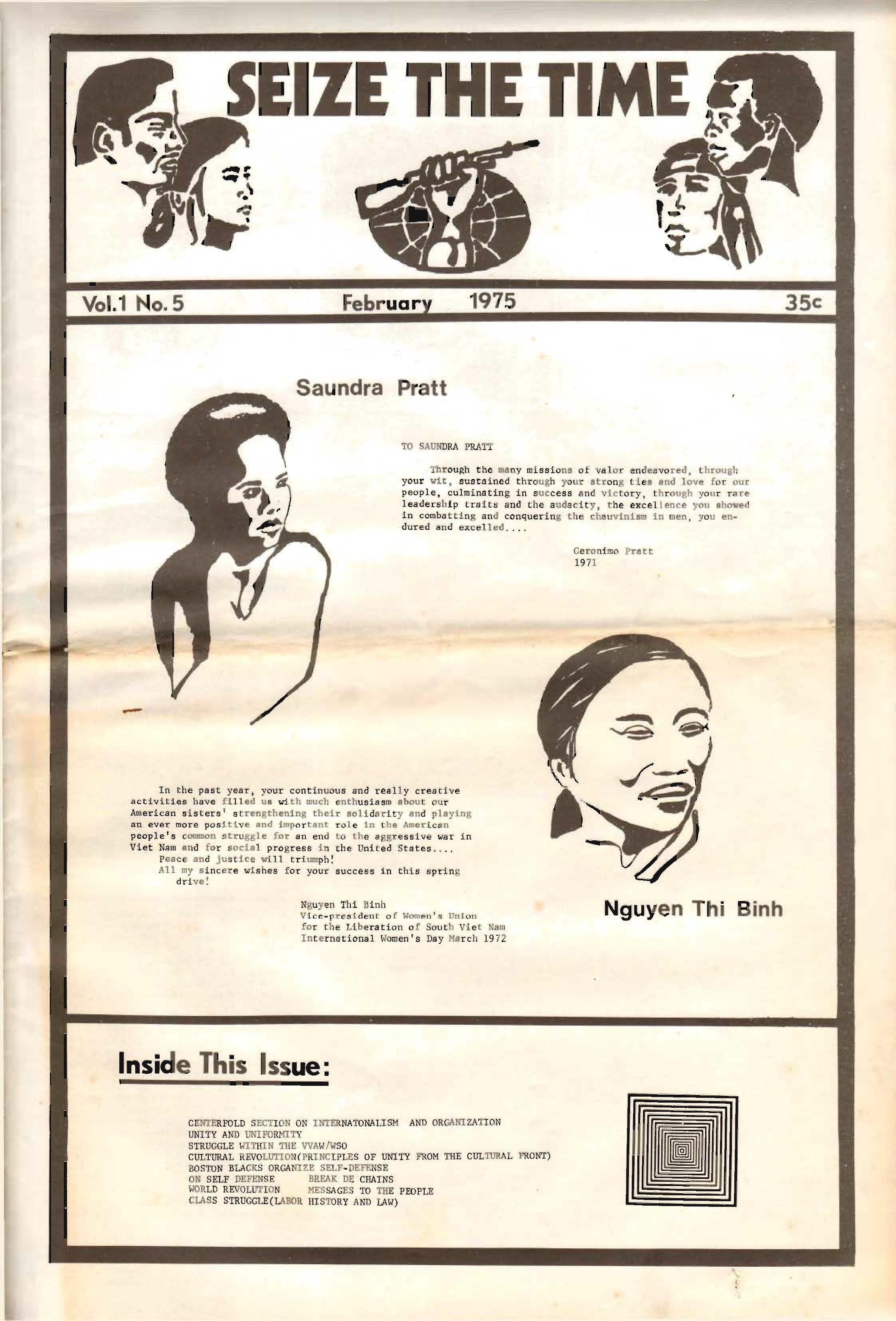 Seize The Time February 1975 (Front Cover)