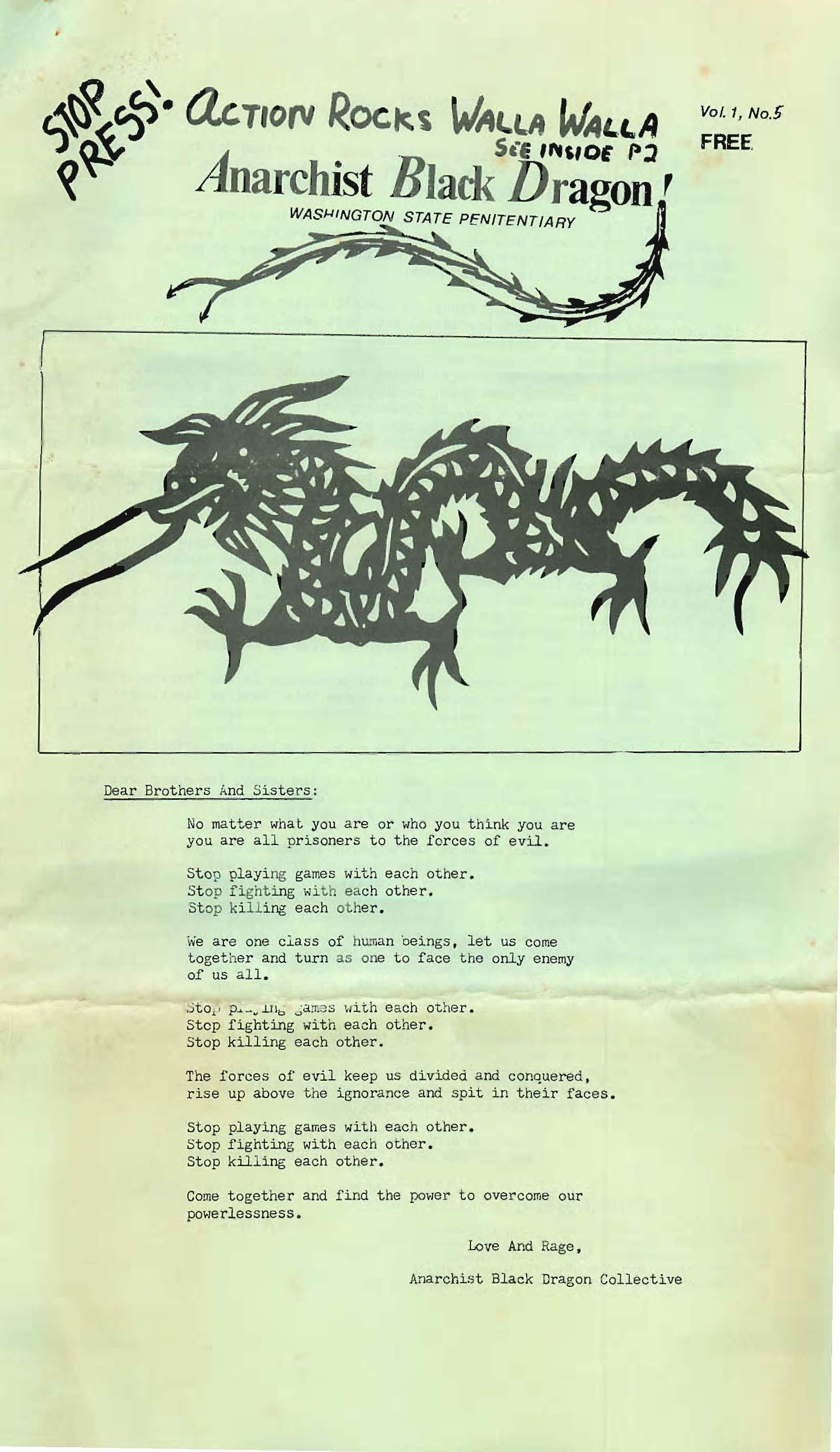 Anarchist Black Dragon Periodical
