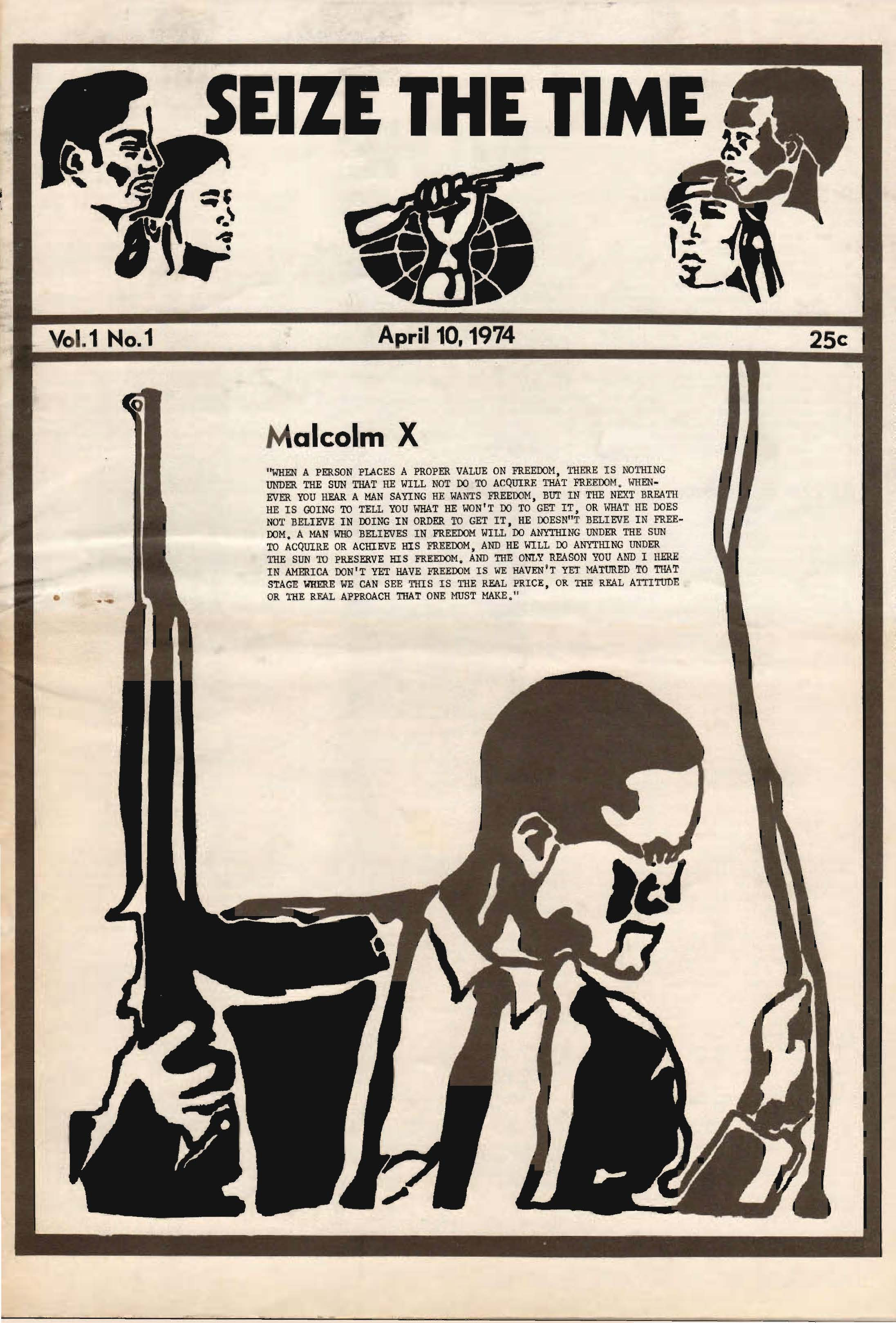 Seize The Time April 1974 (Front Cover)
